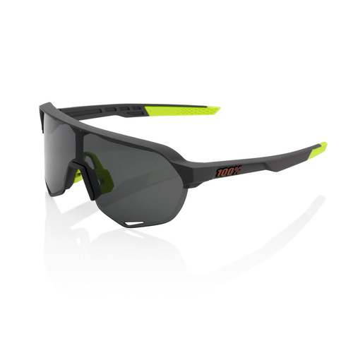 100% S2 Sunglasses - Soft Tact Cool Grey - Smoke Lens