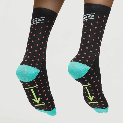 Dot Socks - Black w Pink Dots
