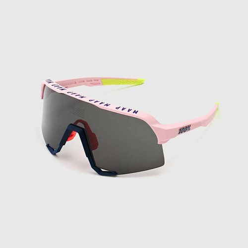 100% S3 MAAP Soft Tact Pink - Smoke Lens Sunglasses